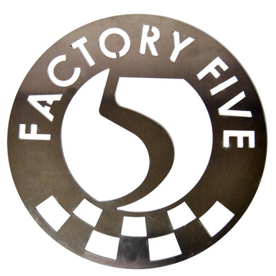 "#16371 - 12"" Factory Five Aluminum Garage Sign"