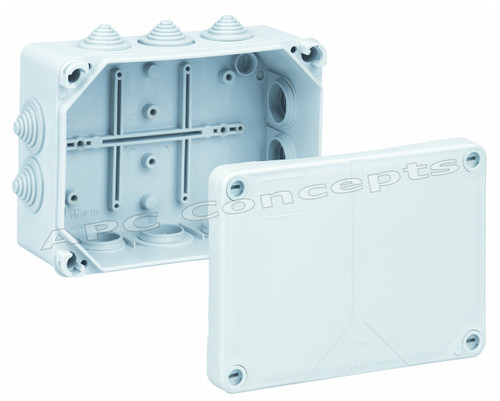 IP55 RATED JUNCTION BOX 150 SERIES 164mmx119mmx77mm