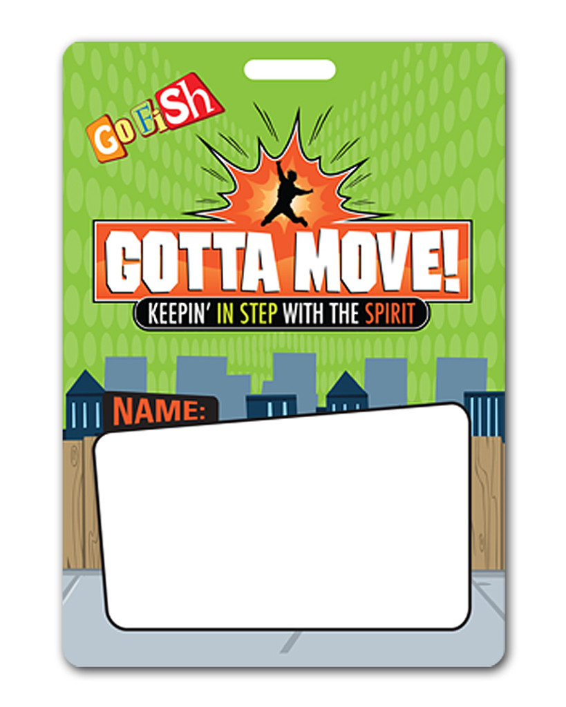 Gotta Move! Name Tag & Lanyard 20-Pack