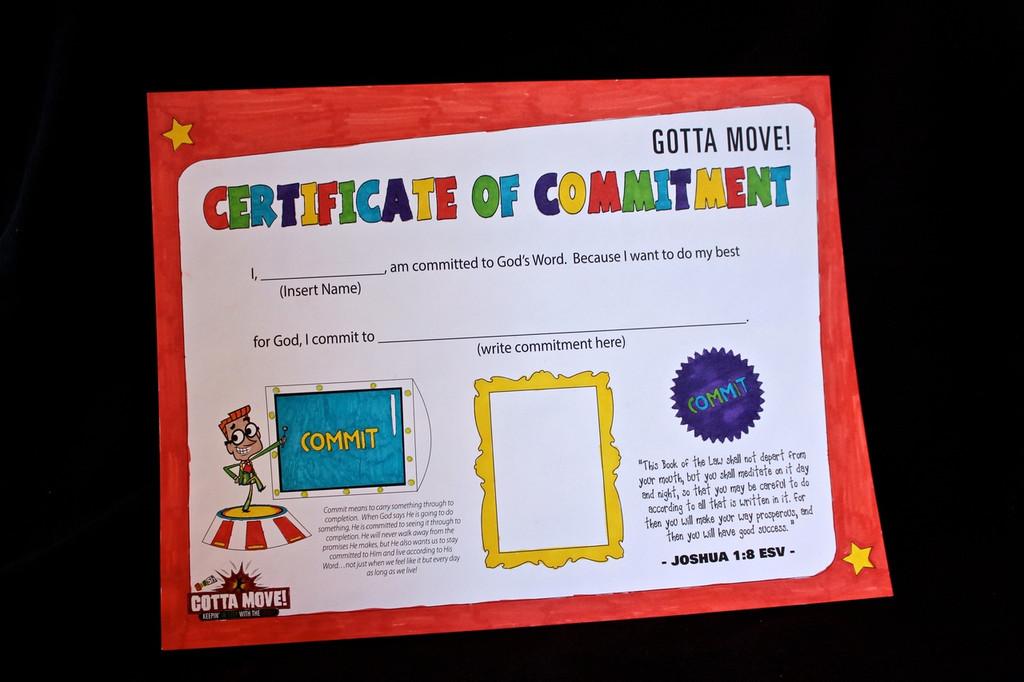 Gotta Move! VBS Certificate Craft 20-Pack