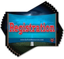 Each kit includes eight 11x17 inch Rotation & Registration Posters to mark the different areas of your Victory VBS.