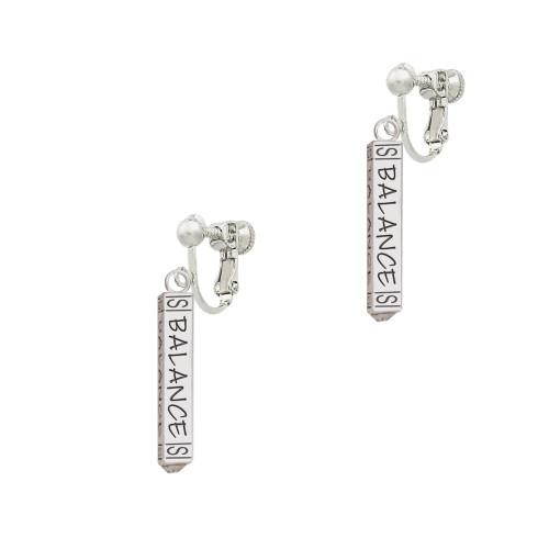Balance Bar Clip On Earrings