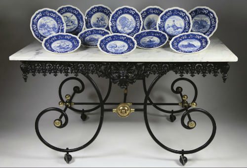 French Marble Top And Cast Iron Bakeru0027s Table 1880   BORREGAARD