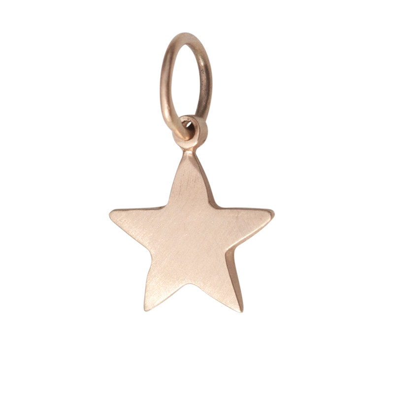 Small Star Charm Silver or Gold Personalized