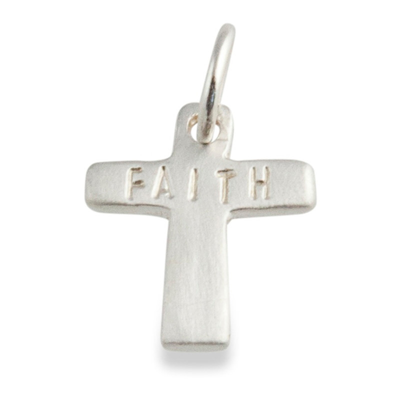 Tiny Cross Charm Silver or Gold Personalized