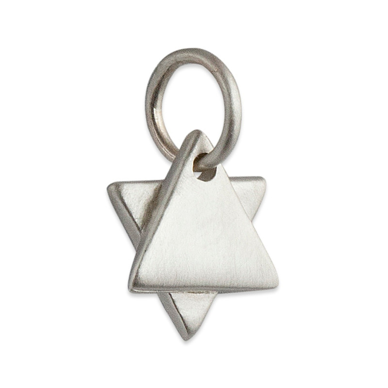 Star of David / Jewish Star Charm Silver or Gold Personalized