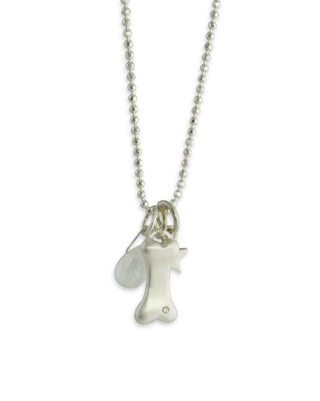 Dog Bone Charm Silver or Gold Personalized