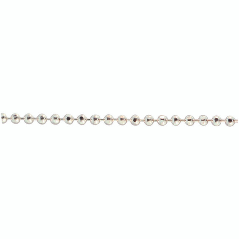 Tiny Sparkly Ball Chain Sterling Silver