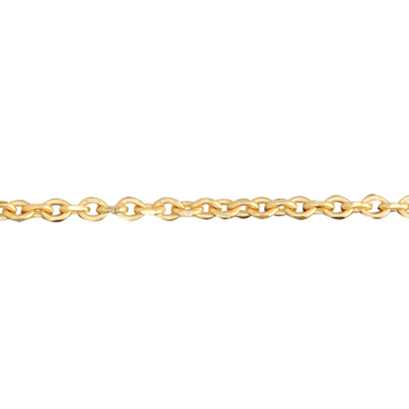 Tiny Link Chain 14kt Yellow, Pink or White Gold