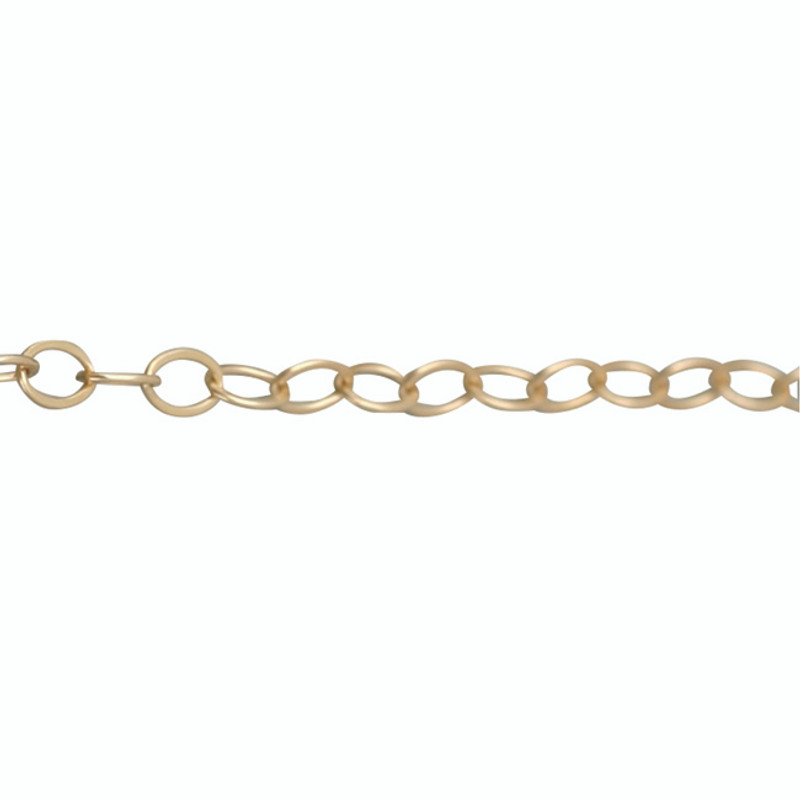 Medium Link Chain 14kt Yellow, Pink or White Gold