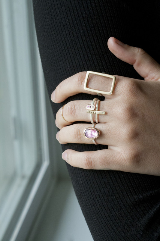 Itty Bitty Bar Stacking Ring Personalized