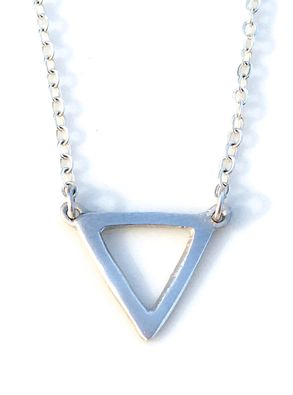 Open Triangle Linked Necklace (sample sale price)