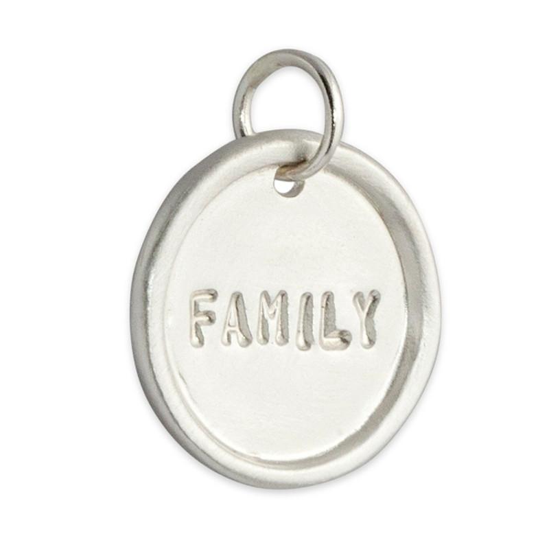 Sterling Silver Medium Disc FAMILY
