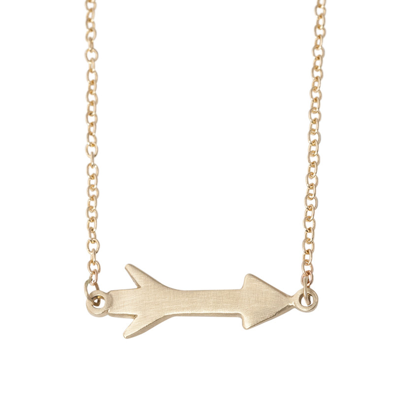 Small Arrow Charm Linked Chain Silver or Gold