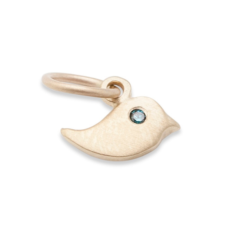 Itty Bitty Bird Charm Silver or Gold