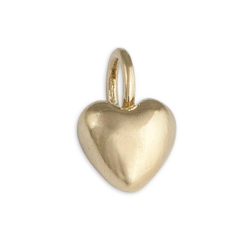 Tiny Puffy Heart 14kt Gold Ready-made