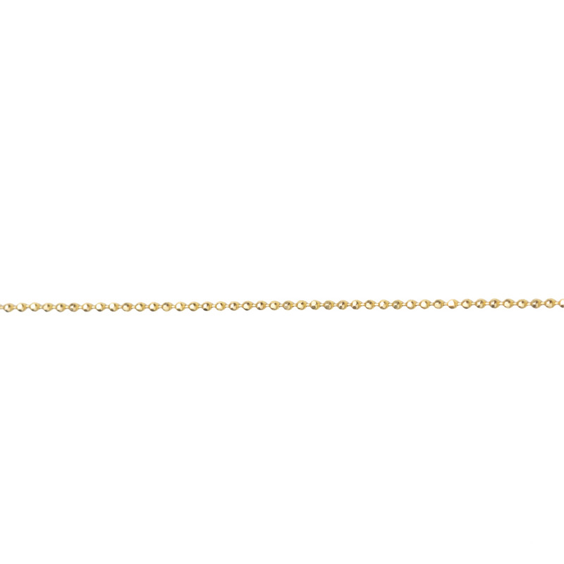 Itty Bitty Delicate Sparkly Ball Chain 14kt Gold