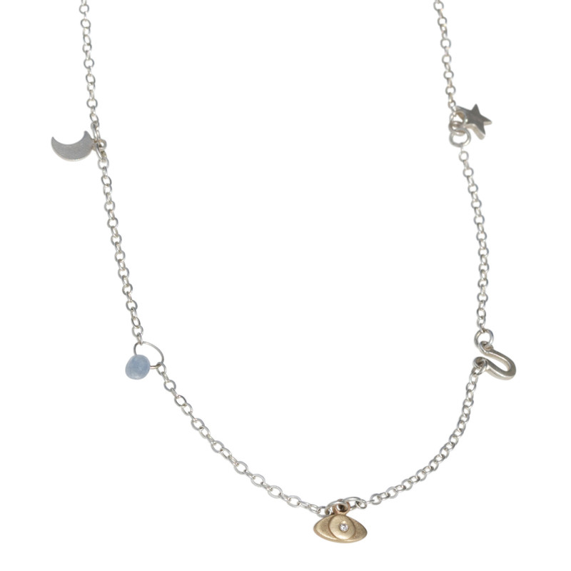 NEW! Charms Dangle Necklace as shown or Customize