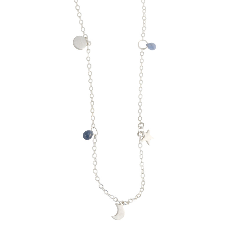 NEW! Charms Dangle Necklace Moon & Star as shown or Customize