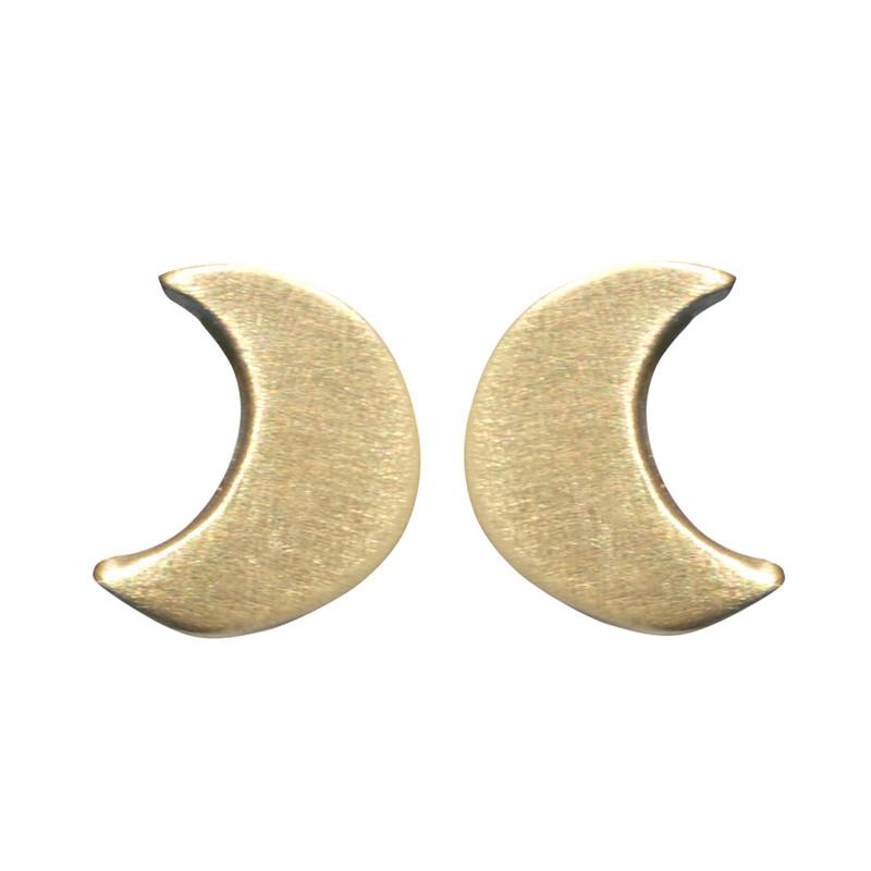 Itty Bitty Halfmoon Stud Earrings Silver or Gold