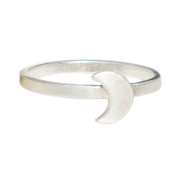 Halfmoon Stacking Ring Personalized