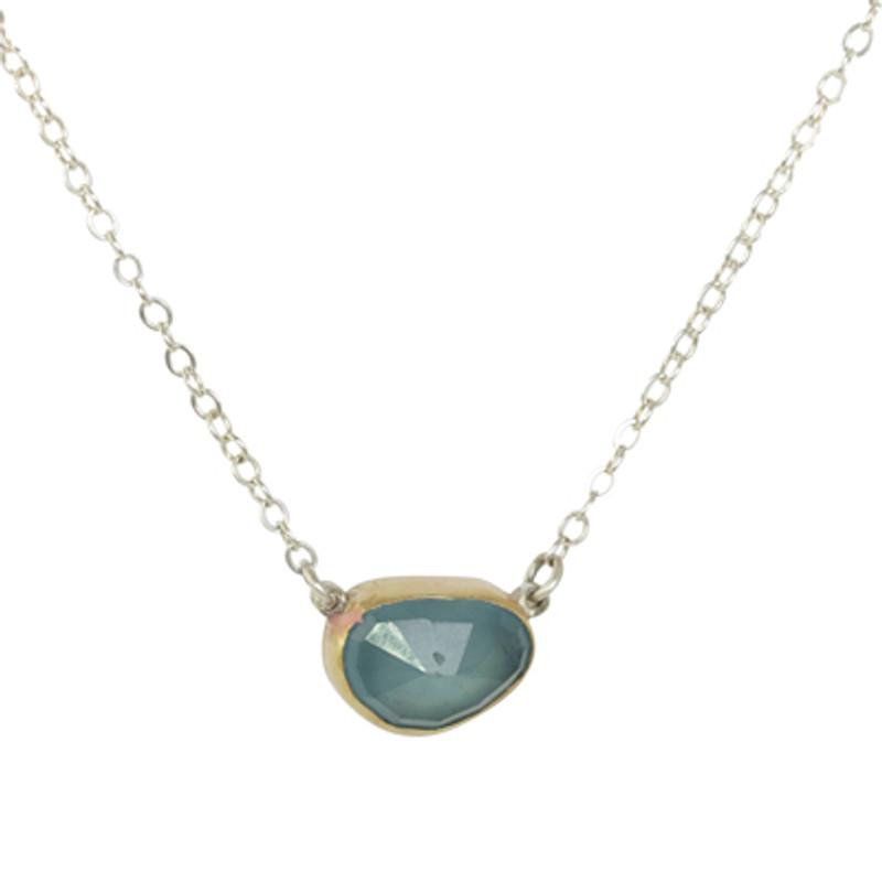 Aquamarine Gem Necklace One of a Kind