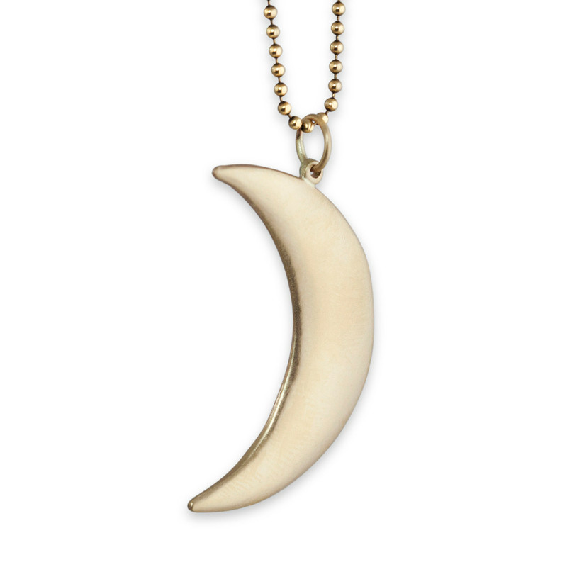Large Moon Pendant 14kt Gold Ready-Made