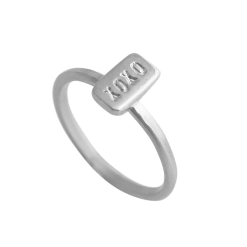XOXO Itty Bitty Bar Ring