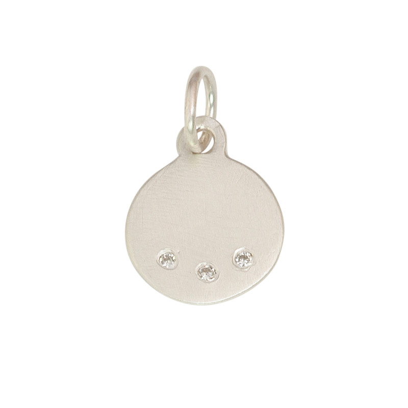NEW Tiny Flat Disc Charm Silver or Gold