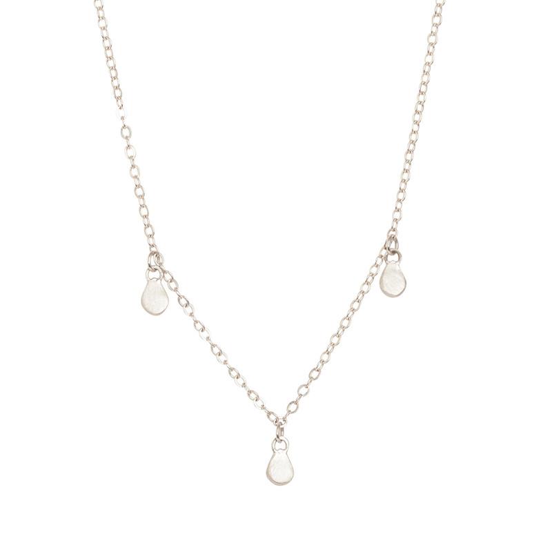 NEW Triple Teardrop Dangle Necklace Silver or Gold