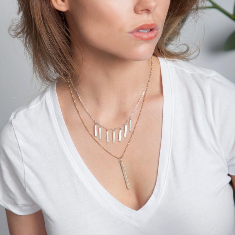 Fringe Necklace Silver or Gold