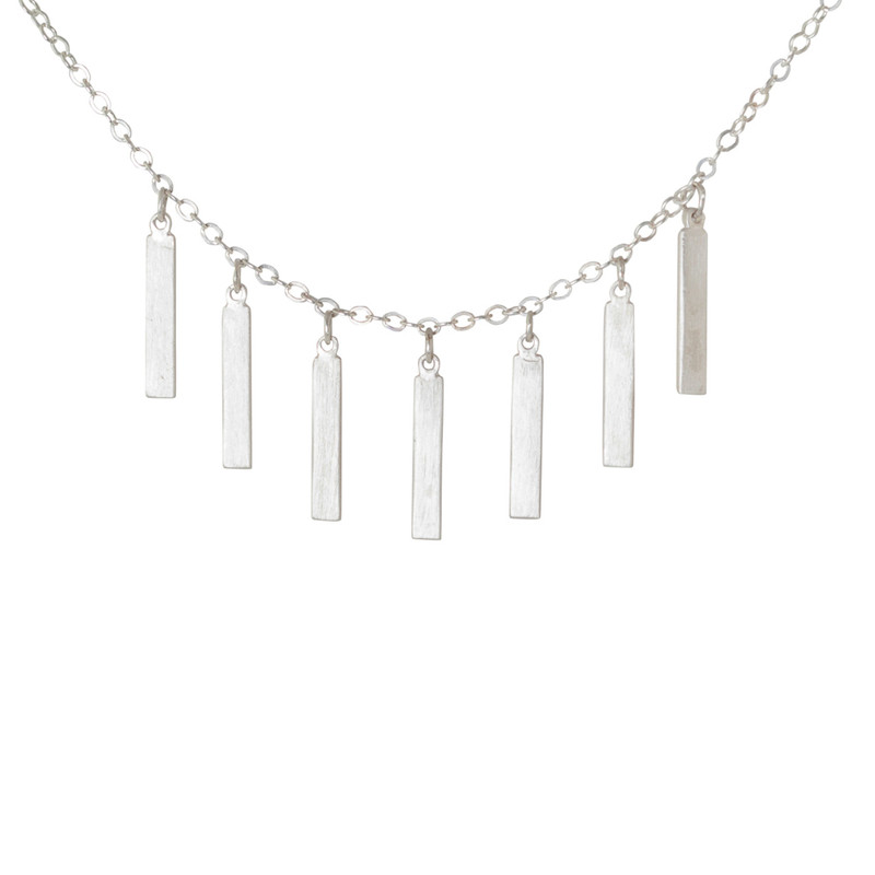 Fringe Necklace Silver or Gold