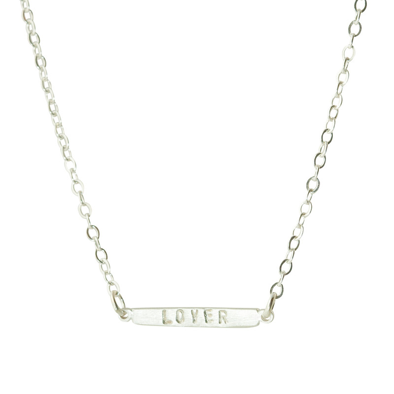 Delicate Tiny Bar Necklace Silver or Gold