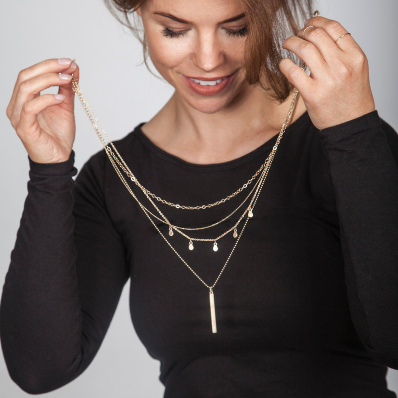 PROMO: NEW Perfect Layering Chain Set with Detachable Cari Clasp™