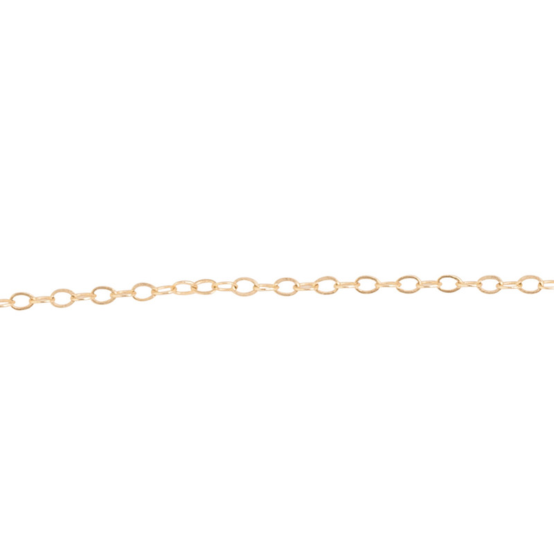 NEW Itty Bitty Delicate Link Chain 14kt Gold