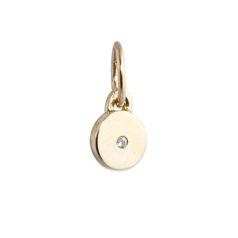 Itty Bitty Disc Charm Silver or Gold Personalized
