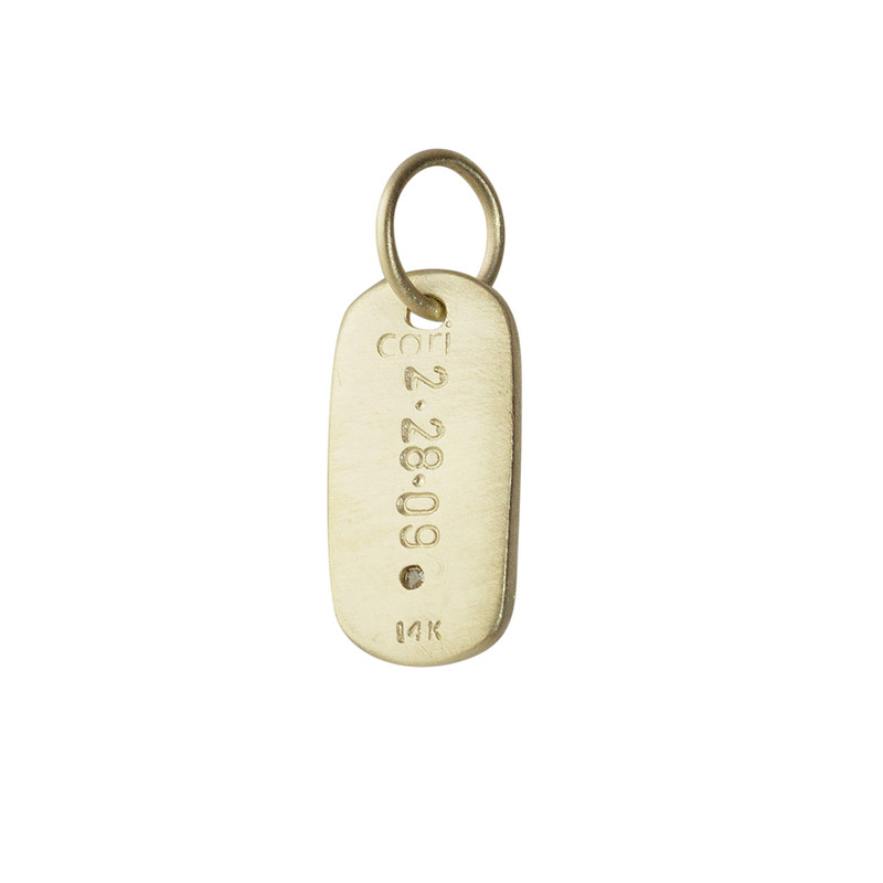 Tiny Dog Tag Silver or Gold Personalized