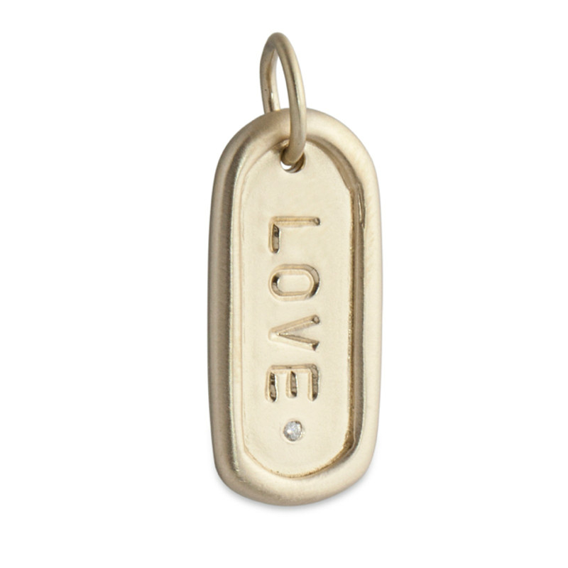 Medium Dog Tag Silver or Gold Personalized