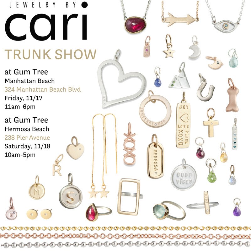 Trunk Show at Gum Tree in Manhattan Beach and Hermosa Beach, California!