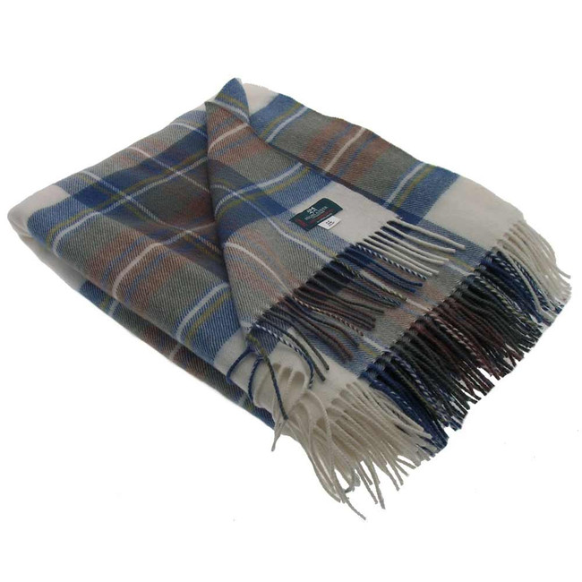 Stewart Dress Blue Tartan Blanket