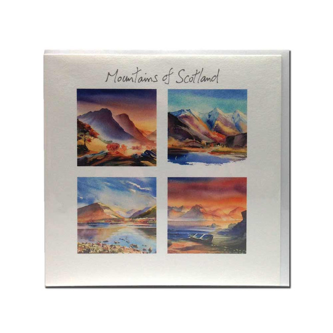 Mountains of Scotland card