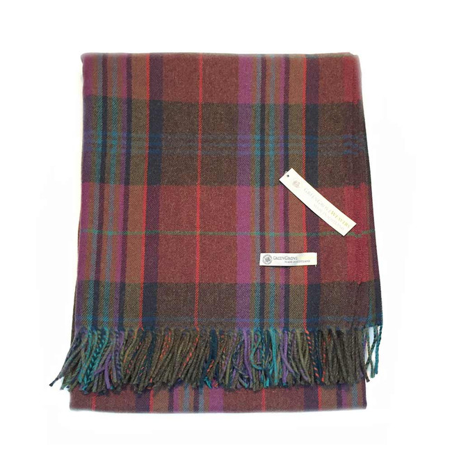 Superfine Lambswool Deveron Tartan Blanket