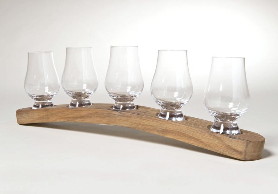Whisky Barrel Holder for Five Glasses
