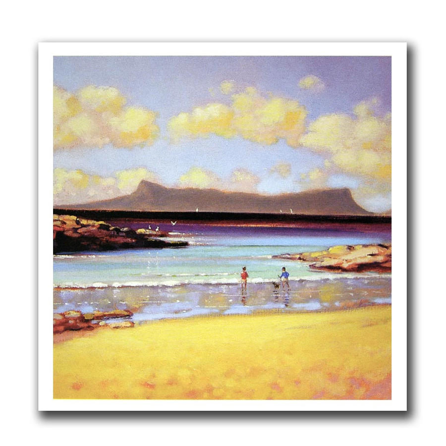 Ed Hunter, Eigg from Arisaig greeting card