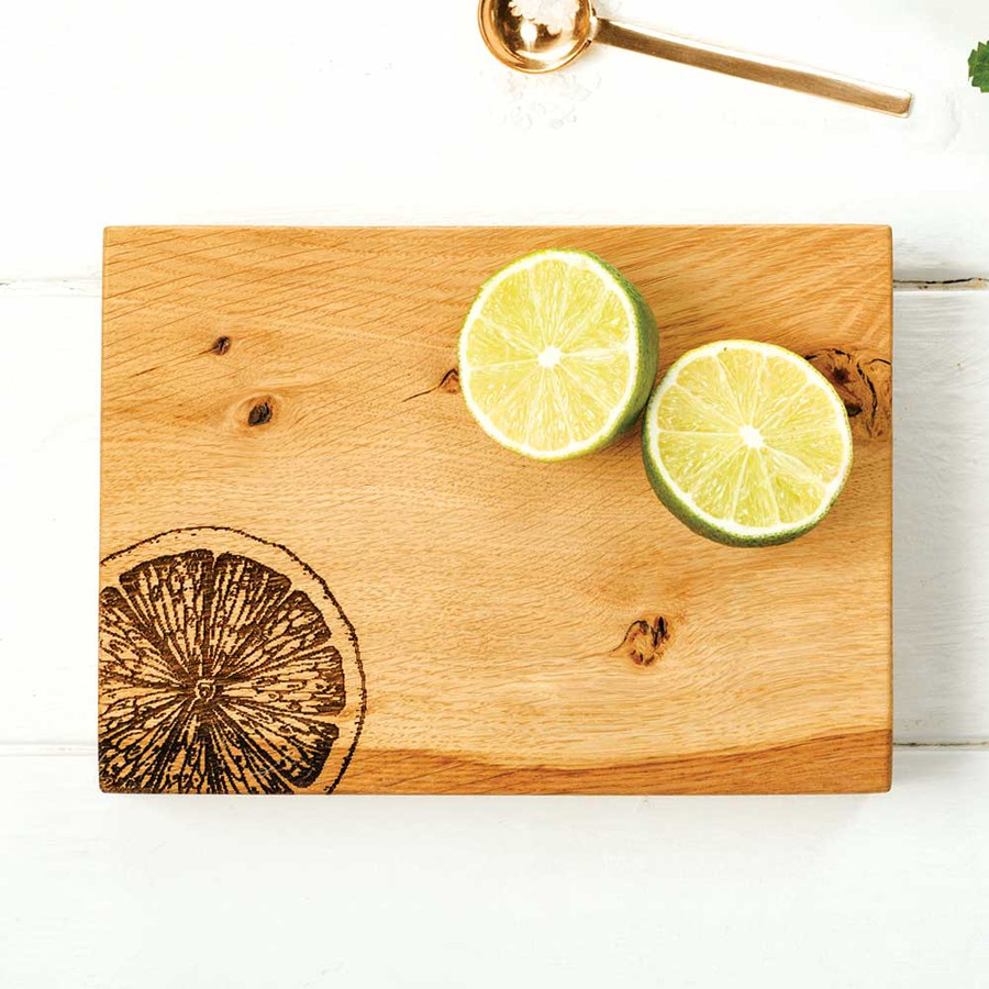 Wooden Chopping Board with Citrus Detail