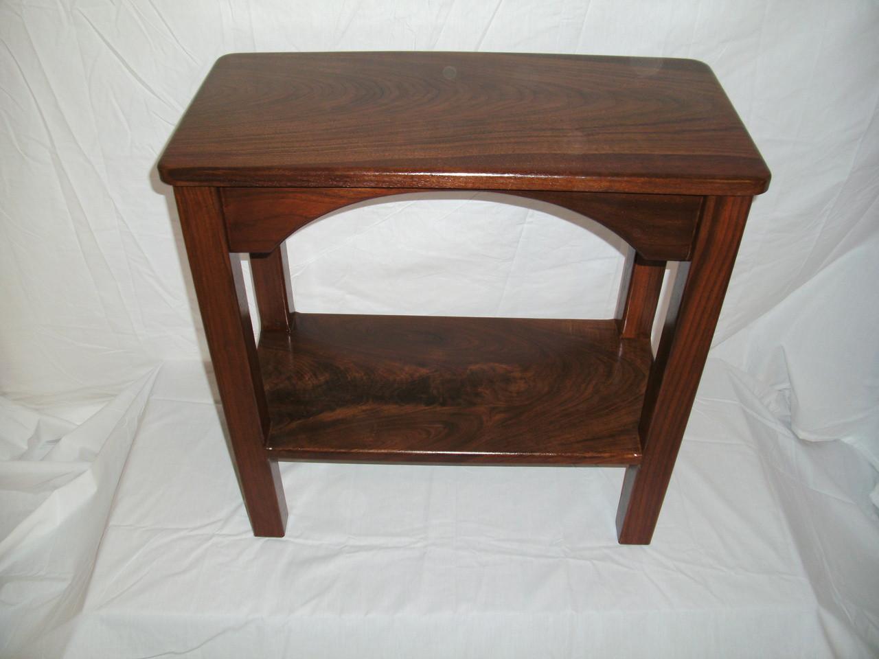 walnut end table. Walnut End Table - 12\