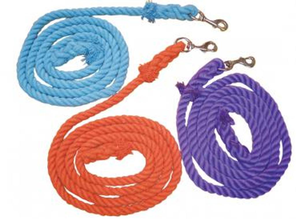 "Eureka Cotton Lead Rope - Nickel Plated 1"" Snap"