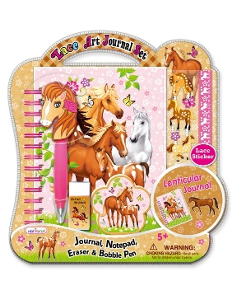 Enchanted Horse Lace Art Journal Set