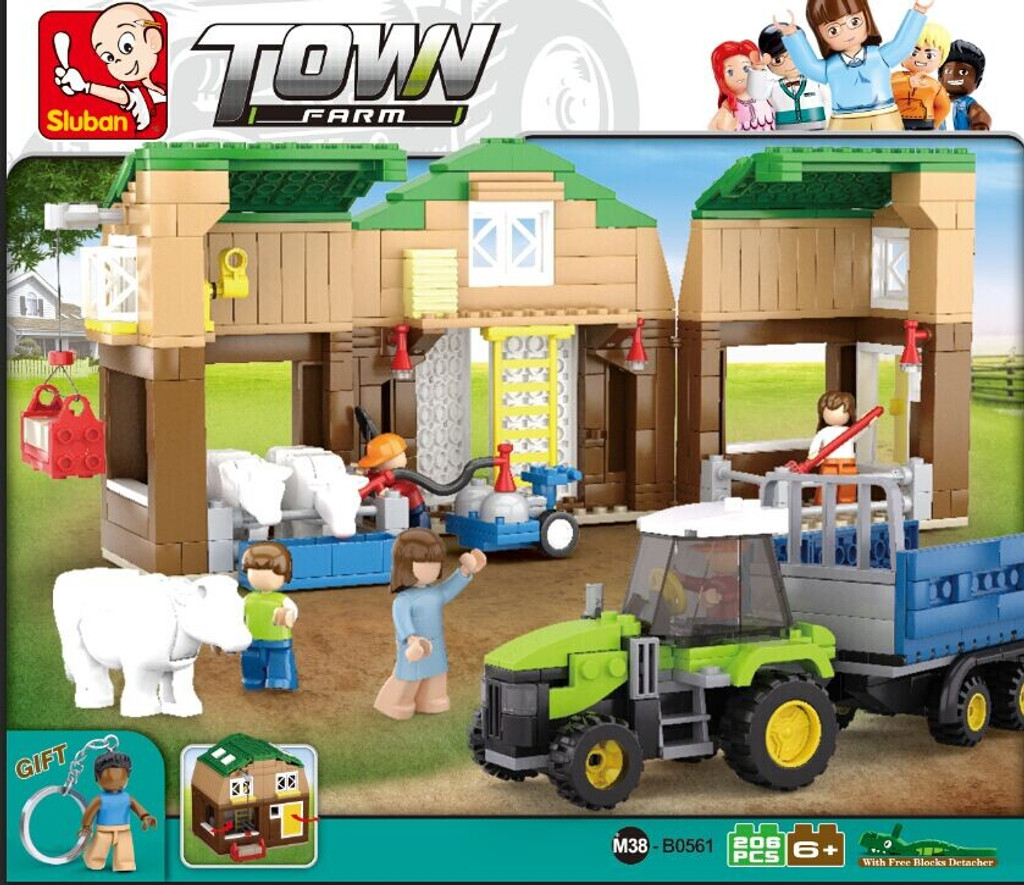 Sluban Building Blocks - Cow Barn/Farm (512 Piece)