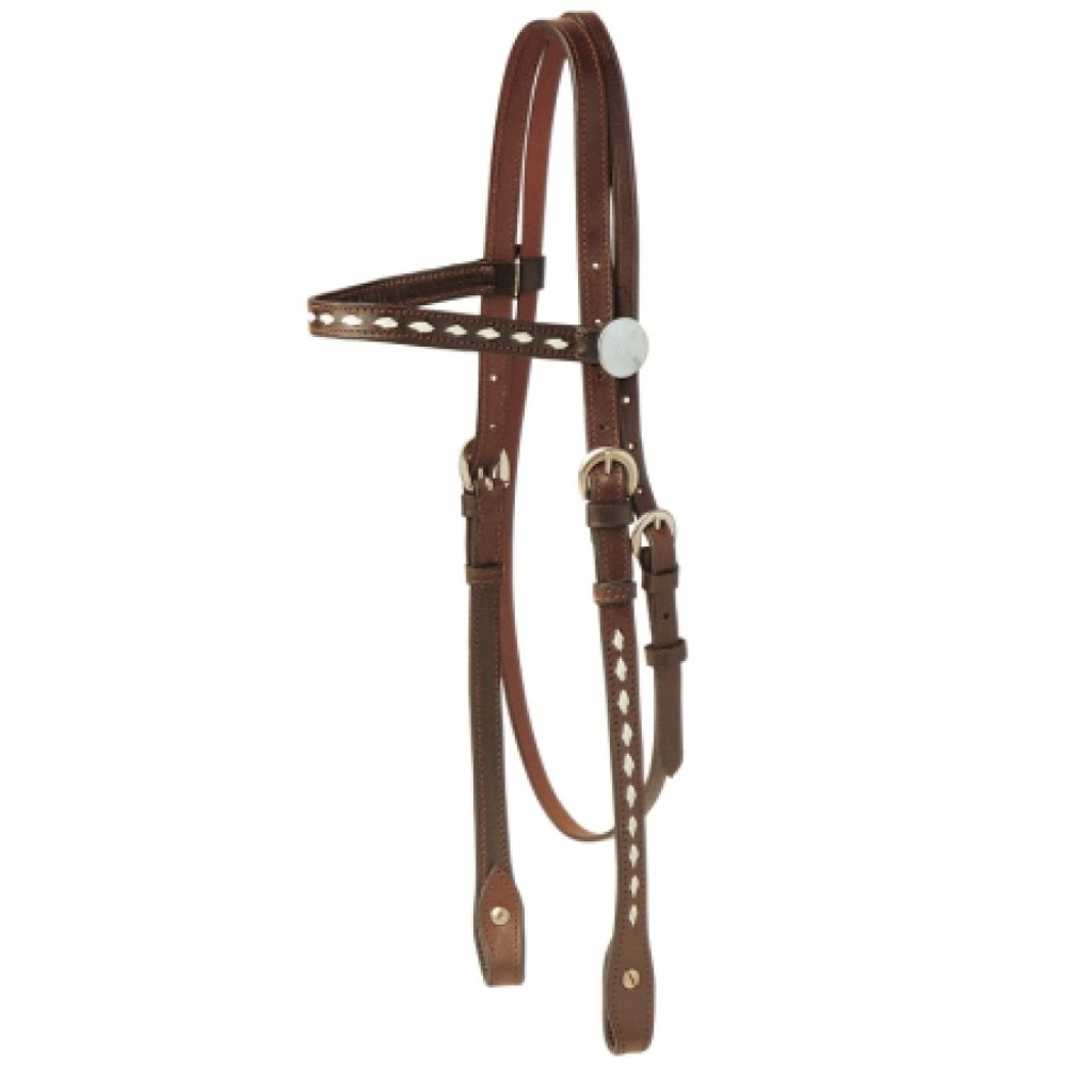 Buckstitched Western Bridle (Full Size)
